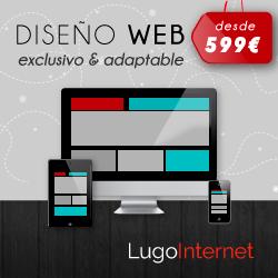 Banner publicitario de LugoInternet de 250 x 250 px